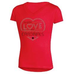 NCAA Girls' Crush V-Neck Soft-Cotton T-Shirt Louisville Cardinals