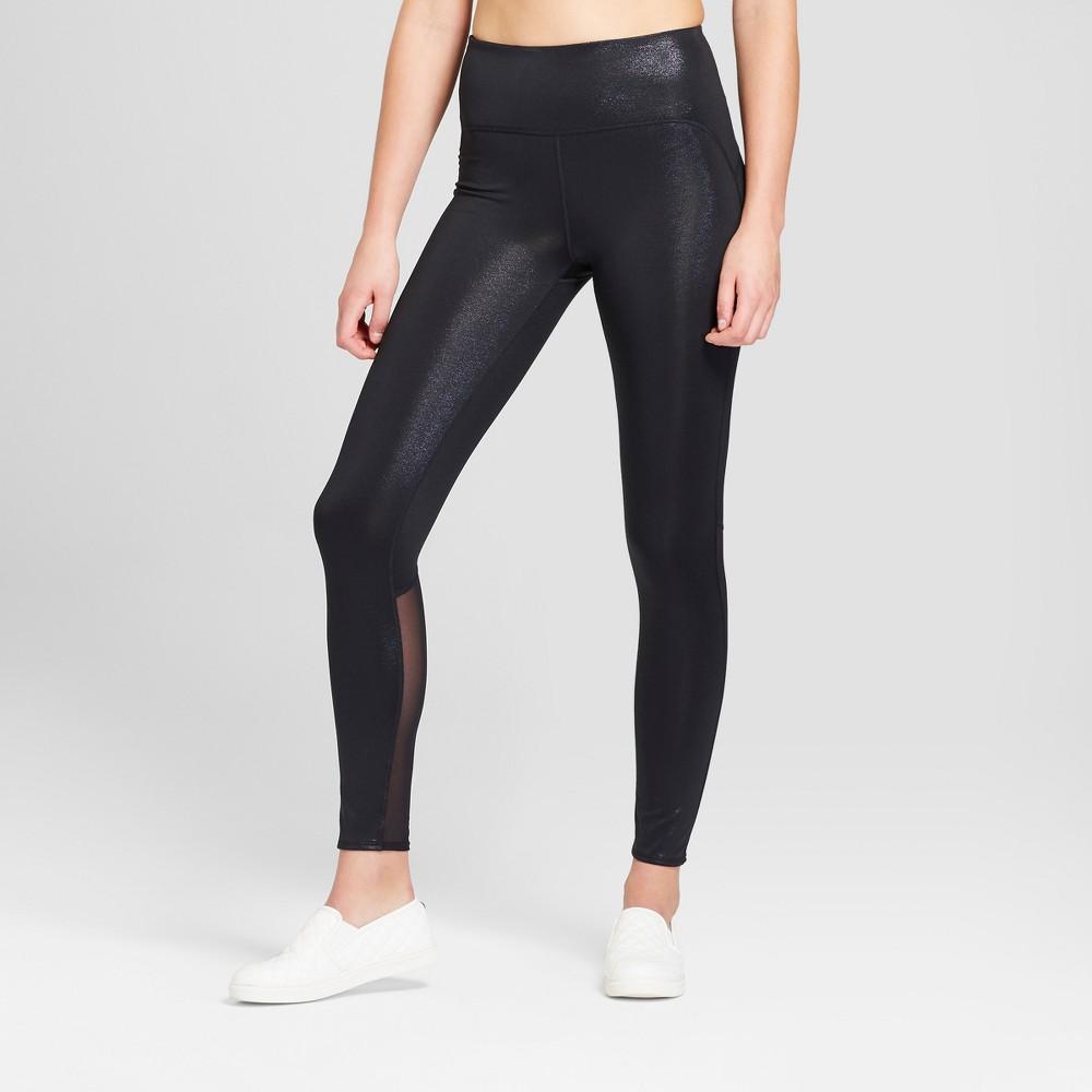 Women's High Rise 7/8 Shine Leggings - JoyLab Black L