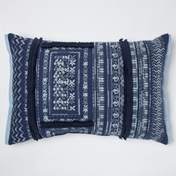 Navy Fringe Lumbar Pillow - Threshold™