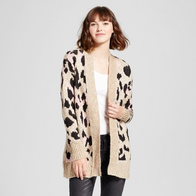 view Women's Leopard Print Cardigan - Mossimo Supply Co. Tan on target.com. Opens in a new tab.