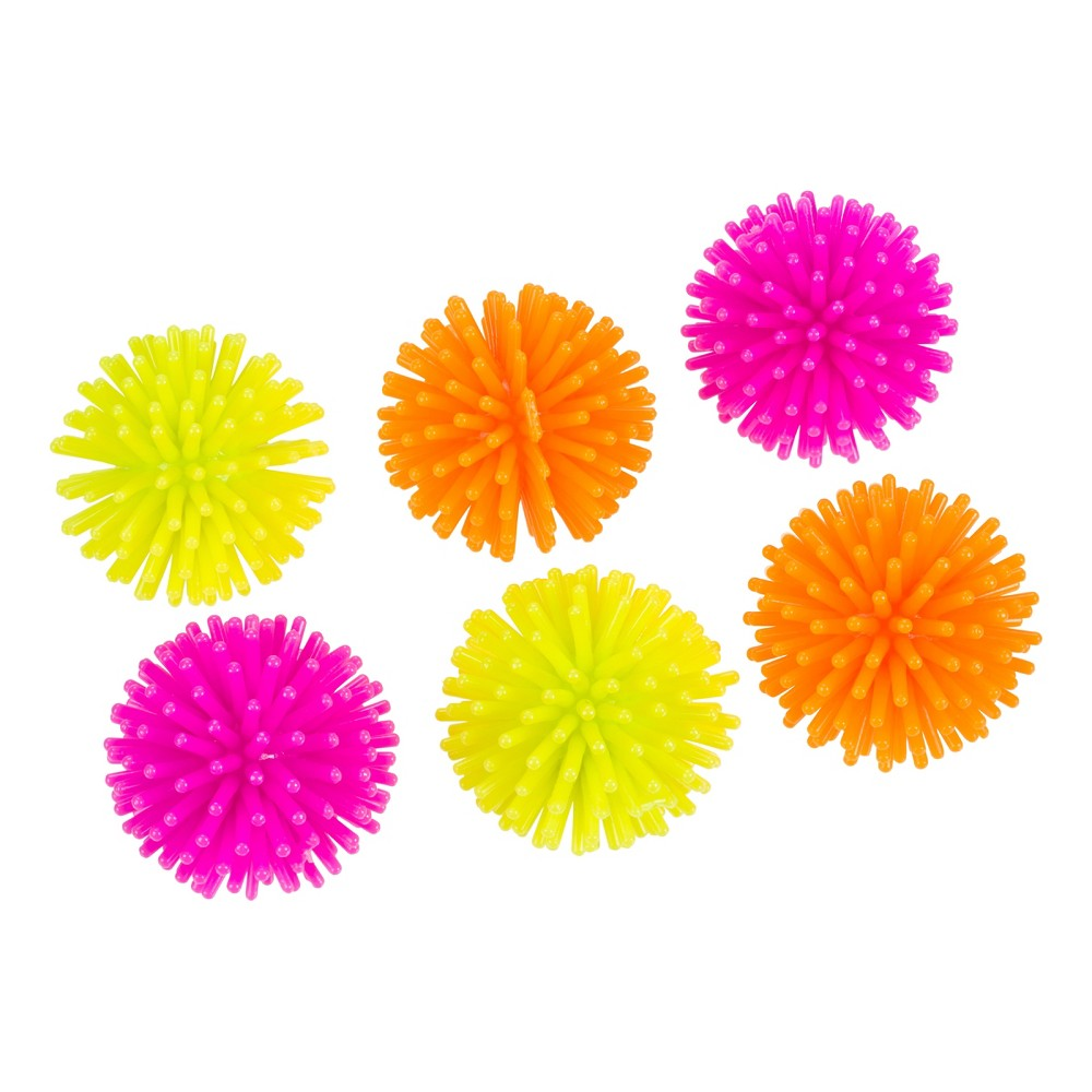 8 packs of 6 Spiky Balls - Bullseye's Playground, Multi-Colored