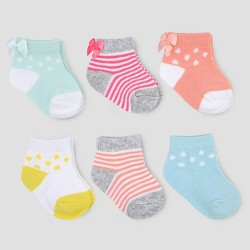 Baby Girls' 6pk Ankle Bow Socks - Just One You™ Made by Carter's®