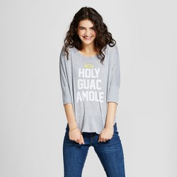 Women's 3/4 Sleeve Holy Guacamole Tunic - Awake Gray