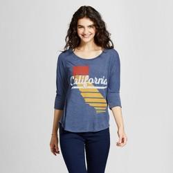Women's 3/4 Sleeve California Sunset Tunic - Awake Navy