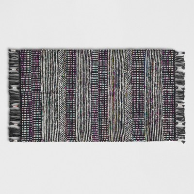 Light Gray Nep Thin Stripe Woven Accent Rug 2'3 X3'9 /27 X45  - Threshold™