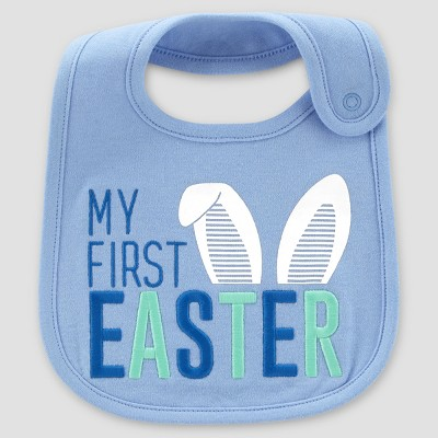 Baby Boys' My First Easter Bib - Just One You® made by carter's Blue One Size