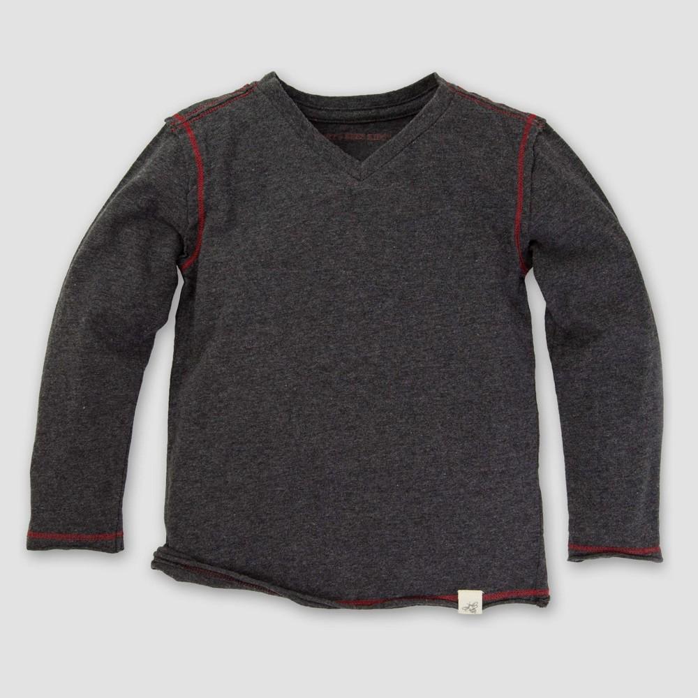 Burt's Bees Baby Toddler Boys' Long Sleeve T-Shirt - Gray 6