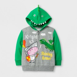 Toddler Boys' Peppa Pig® George Costume Hooded Sweatshirt