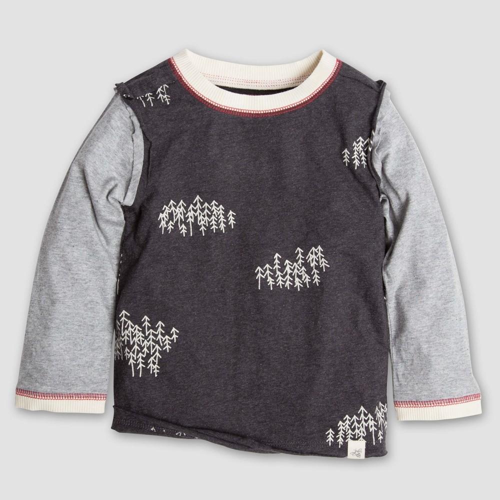 T-Shirt Black Heather 4T, Boys