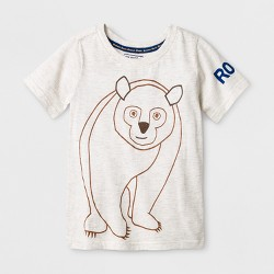 Toddler Boys' The World of Eric Carle Short Sleeve Brown Bear Short Sleeve T-Shirt - Gray