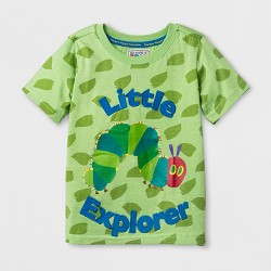 Eric Carle Toddler Boys' 'Little Explorer' Short Sleeve T-Shirt - Green