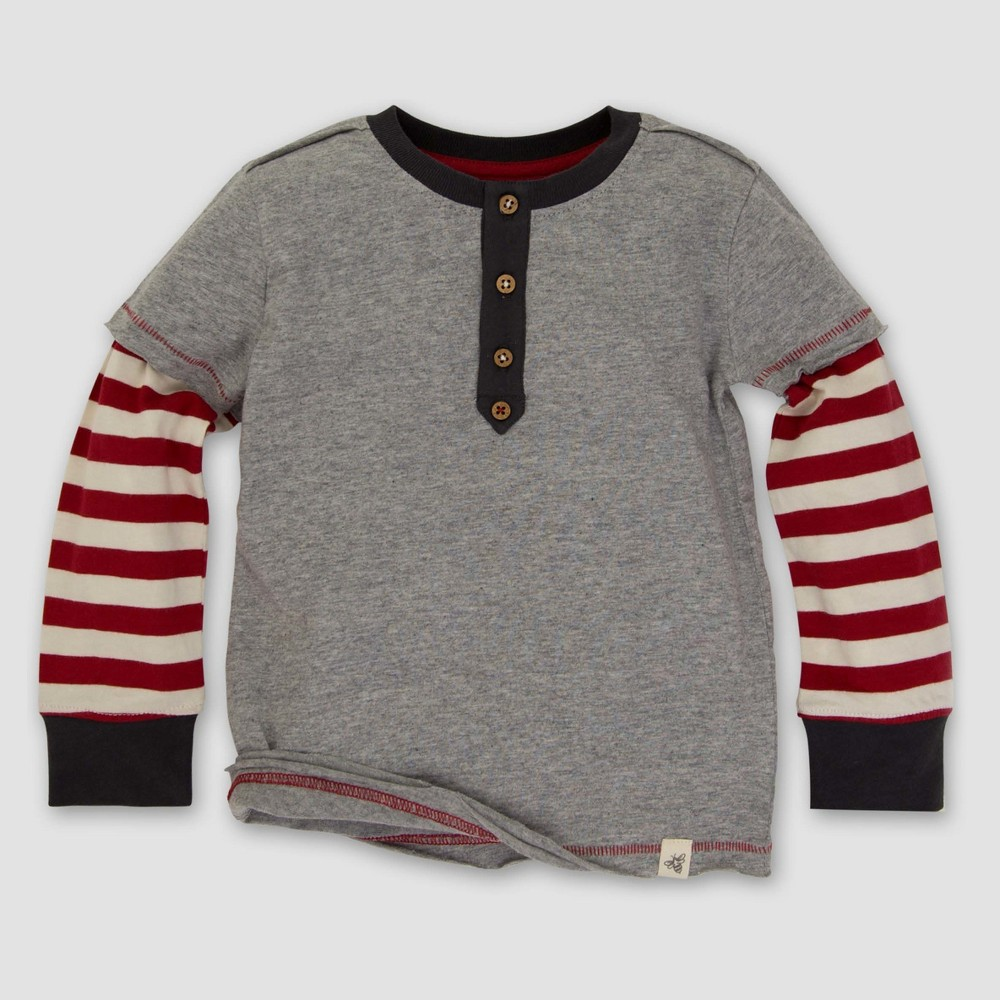 T-Shirt Heather 4T, Boys, Gray