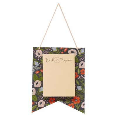 8 packs of 1 sticky note pennant floral playground