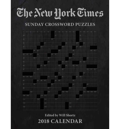 New York Times Sunday Crosswords 2018 Calendar (Paperback) - image 1 of 1