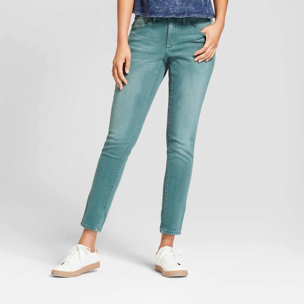 Women's Mid Rise Skinny Jeans Universal Thread Green 16