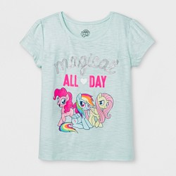 Toddler Girls' Hasbro My Little Pony Short Sleeve 'Magical All Day' T-Shirt - Mint