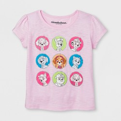 Toddler Girls' PAW Patrol Pups in Color Dots Short Sleeve T-Shirt - Pink
