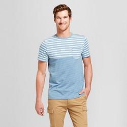 Men's Short Sleeve Stripe Pocket T-Shirt - Goodfellow & Co™ Calm Blue