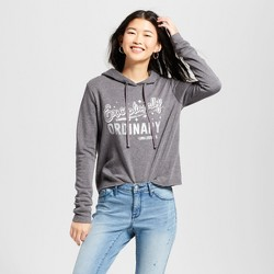 Women's Harry Potter Exceptionally Ordinary Graphic Hoodie (Juniors') - Charcoal