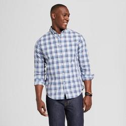 Men's Standard Fit Long Sleeve Northrop Button Down Shirt - Goodfellow & Co™ Blue Steel