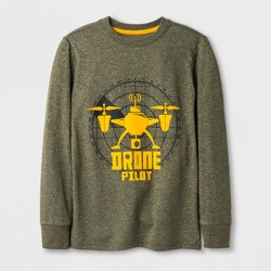 Boys' Drone Graphic Long Sleeve T-Shirt - Cat & Jack™ Green