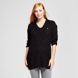 black turtleneck tunic sweater : Target