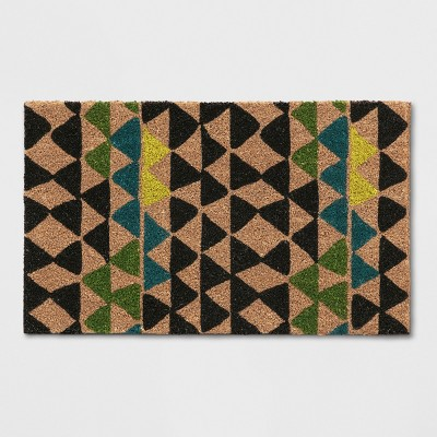 Green Geometric Doormat 1'6 X2'6  - Threshold™