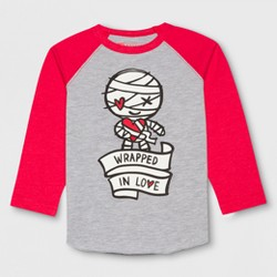 Toddler Boys' Universal Studios Monsters Raglan Wrapped Long Sleeve T-Shirt - Medium Heather Gray