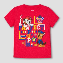 Toddler Boys' Paw Patrol Perfect Pups Short Sleeve T-Shirt - StopLight Red