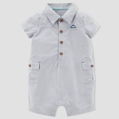 Baby Boys' Plaid Romper - Just One You® made by carter's Blue 18M