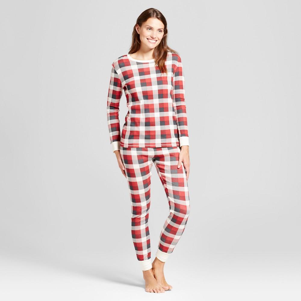 Burts Bees Baby Womens Pajama Set - Cranberry Ivory XS, Pink White