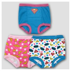 Toddler Girls' DC Comics 3pk Justice League Training Pants