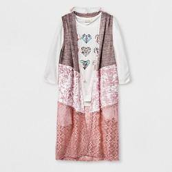 Self Esteem Girls' Velvet Vest Sleeveless Top - Pink