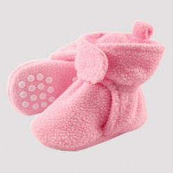 Luvable Friends Baby Girls' Fleeced Lined Scooties - Light Pink