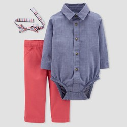 Baby Boys' 2pc Set with Bow Tie - Just One You™ Made by Carter's®  Chambray/Red