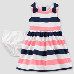 Baby Girls' Stripe Dress - Just One You™ Made by Carter's®  Pink/Navy