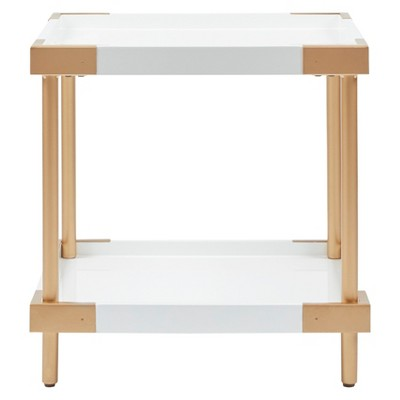 Isabella End Table White/Gold