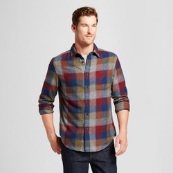 Men's Long Sleeve Heavyweight Flannel Button Down Shirt - Goodfellow & Co™ Xavier Navy
