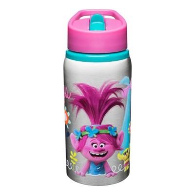 Trolls Zak Designs Stainless Steel Water Bottle 19oz - Pink/Silver