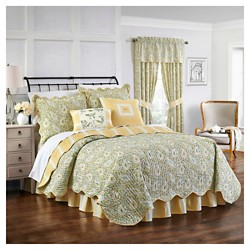 Green & Yellow Paisley Verveine Quilt Set 4pc - Waverly®
