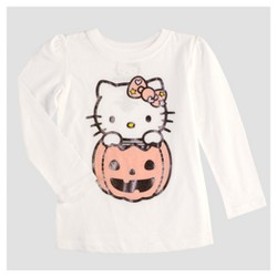 Toddler Girls' Hello Kitty® Long Sleeve T-Shirt - White