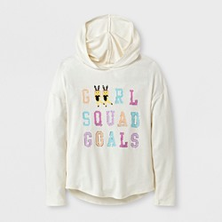 Grayson Social Girls' Girl Squad Goals Graphic Hoodie - Cream