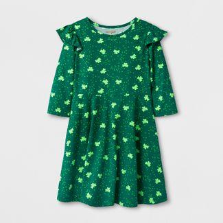 c366a92c58 Girls  St. Patrick s Day Shamrock Print Dress - Cat   Jack™ Green
