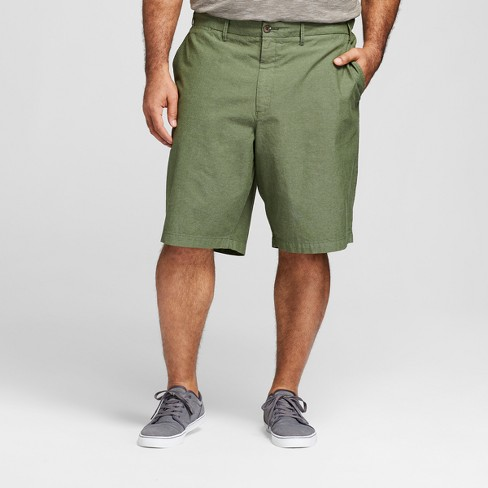 "Men's Big & Tall 10.5"" Textured Linden Flat Front Shorts - Goodfellow & Co™ Orchid Leaf - image 1 of 3"