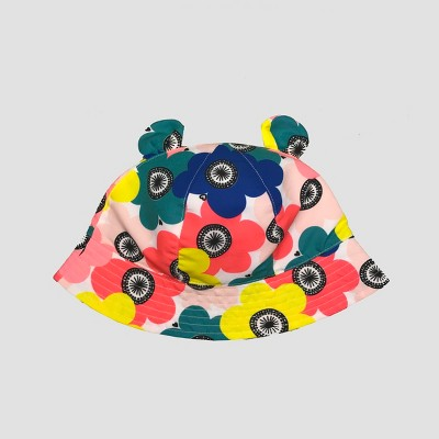 Toddler Girls' Flower Print Bucket Hat - Cat & Jack™ 2T-5T