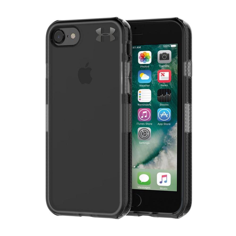 Under Armour UA Protect Verge iPhone 8/7 Case - Translucent Smoke/Black/Metallic, Medium Clear