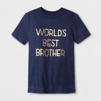 Boys' Short Sleeve T-Shirt - Cat & Jack™ Blue M