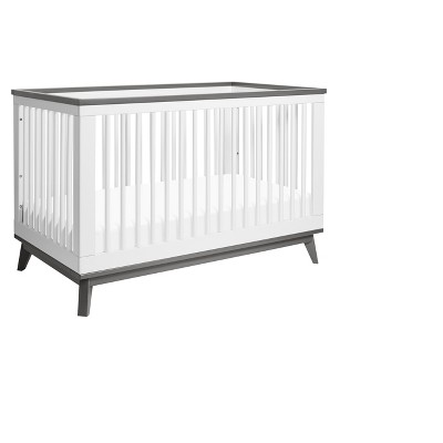 Babyletto Scoot 3-in-1 Convertible Crib - White/Slate