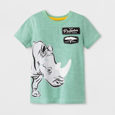 Toddler Boys' Genuine Kids™ from OshKosh® Graphic Short Sleeve T-Shirt - Heather Green - 12M