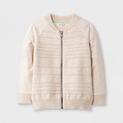 Toddler Boys' Zip-Up Cardigan - Cat & Jack™ Heather Grey 2T
